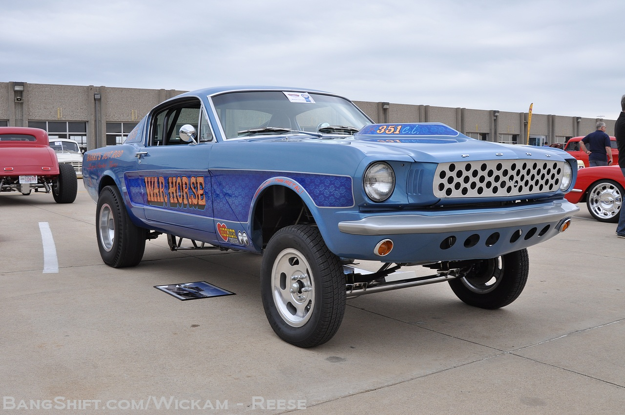 Car Show Dallas >> BangShift.com The War Horse: A 1966 Straight Axle Mustang Fast Back That Punches All The Right ...