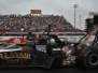 Top Fuel At NHRA Houston 2014 - Header Flames And Rumpled Tires
