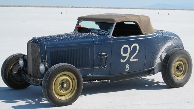 Roadster at the Bonneville Salt Flats