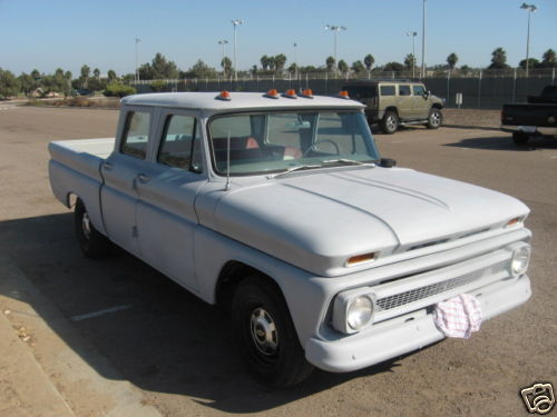 BangShift com ebay Find: Super Rare '66 Crew Cab Chevy