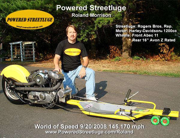 Powered street luge