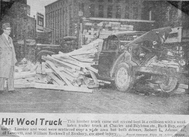 Lumber truck wreck