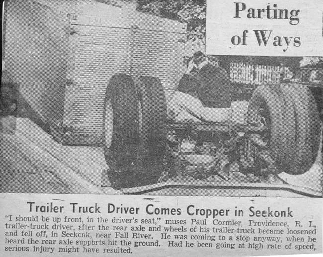 Trailer axle ripped out