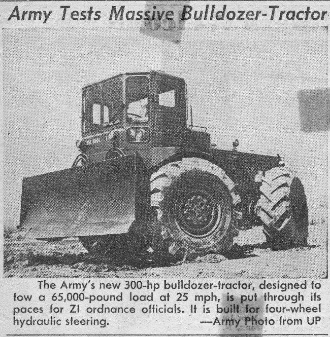 Massive army bulldozer