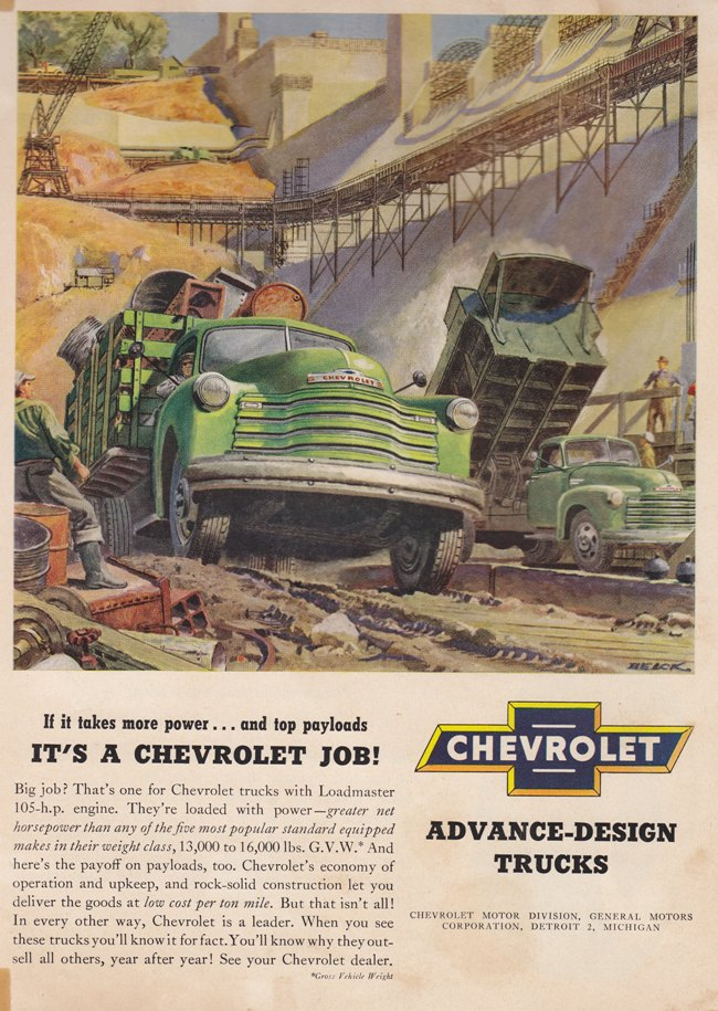 Chevy advanced design trucks