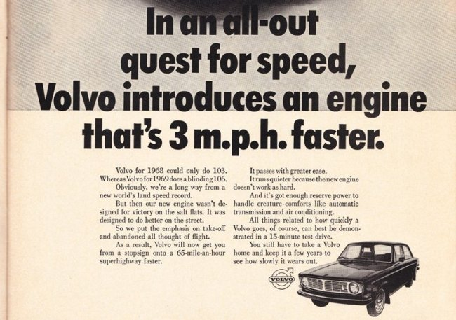 Hilarious Volvo ad from 1969