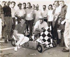 Captain Jack McClure racing kart