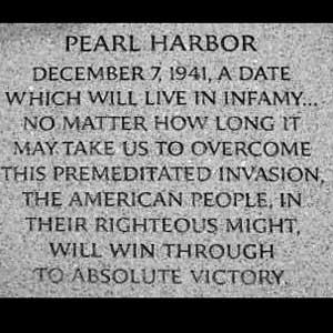 Pearl Harbor Plaque
