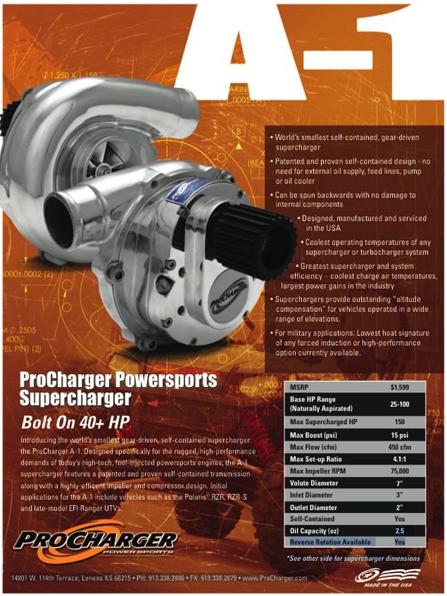 Procharger A1 Blower specs