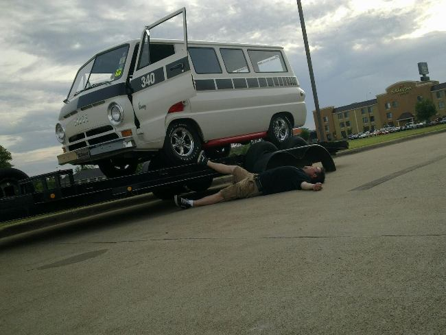 Matt Graves mourning the Cherry Bomb van