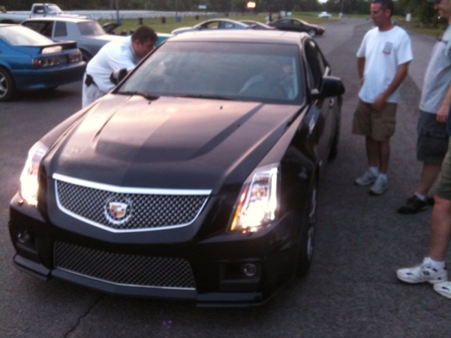 Brand new CTS-V was going 8.0 in the eighth mile!