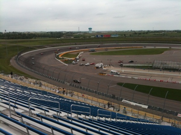 Power Tour participants on the speedway