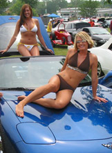 Women with hot rods