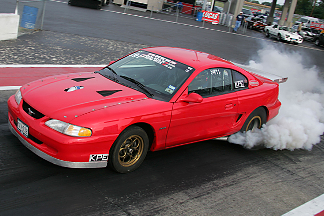 Turbocharged Duramax Ford Mustang sets standing mile record