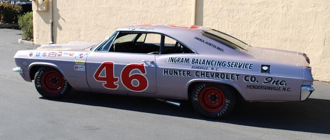 The restored nascar 1965 impala is on ebay for Ebay motors com cars and trucks