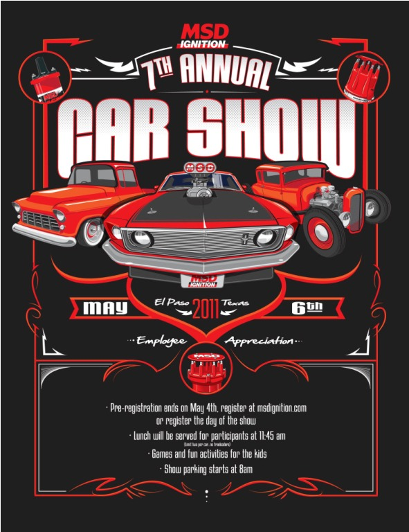 Upcoming show alert the 7th annual msd car for Classic american el paso