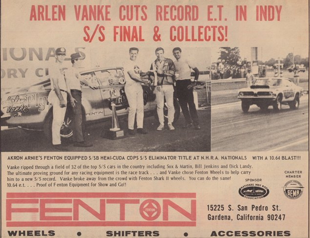 Vintage drag race and speed ads