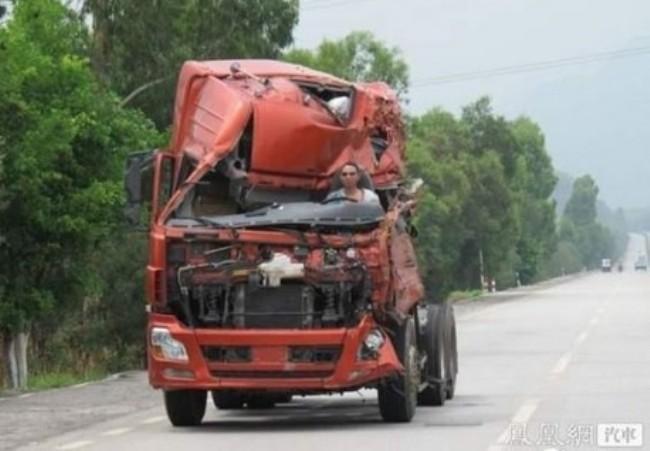 Trucker in decapitated truck