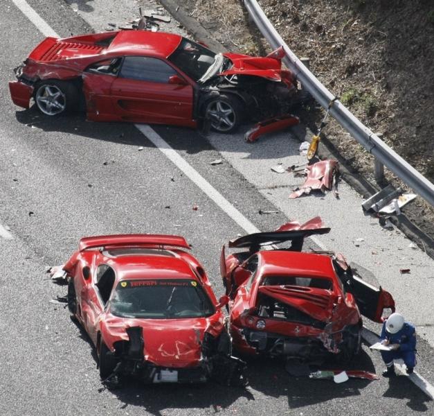 BangShift.com Mama Mia: Massive Exotic Car Crash In Japan