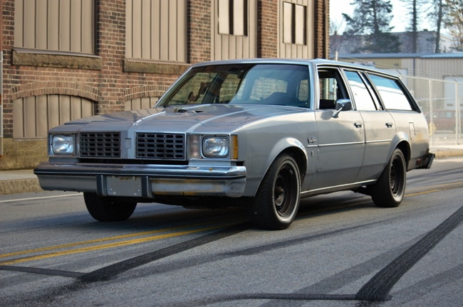 Jesse's big block powered, stick shift 1980 Olds Wagon!