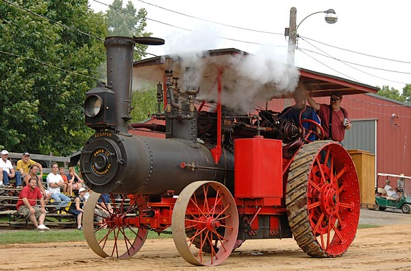 Giant Frick steam traction engine