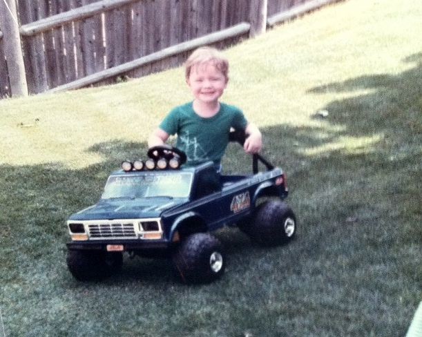 Lohnes rocking out in his Power Wheels circa 1984 or thereabouts