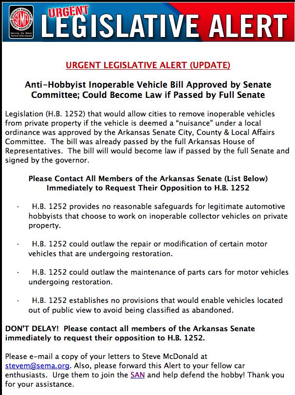 URGENT SEMA LEGISLATIVE ALERT: ACT NOW!!!! Picture%2012
