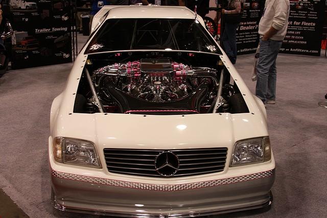 Wild Mercedes bodied drag car