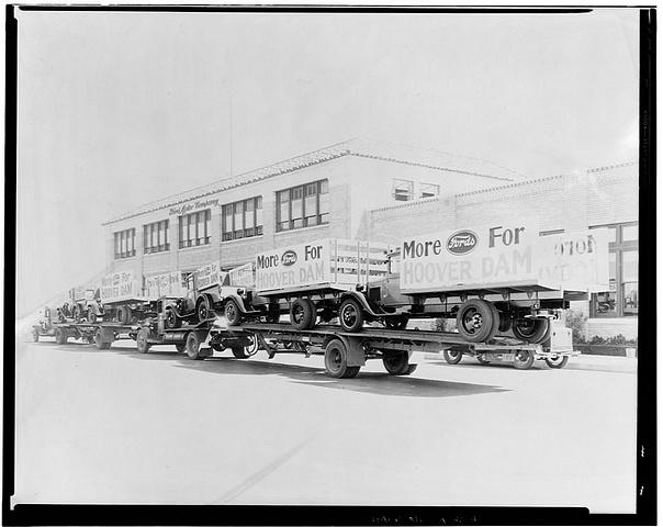 Ford trucks heading to Hoover Dam
