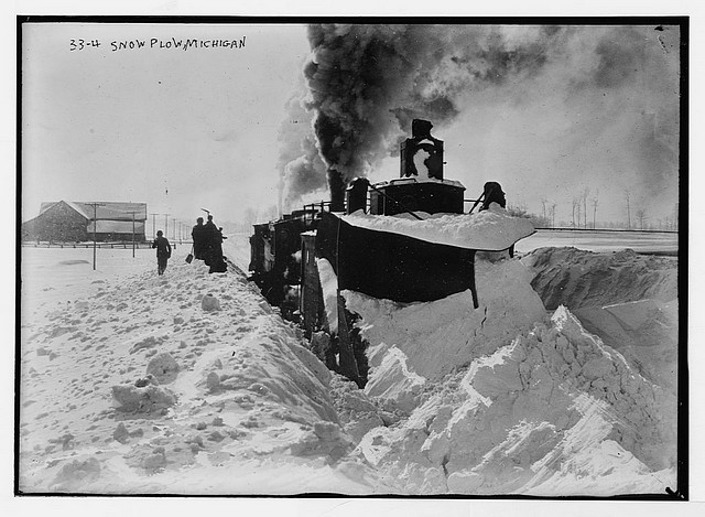 Big locomotive plow