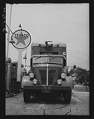 Bitchin' truck at Texaco station