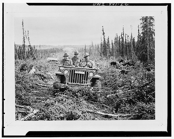 Jeep building the Al Can highway