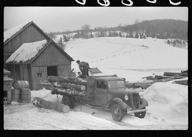 Logging truck in Vermont