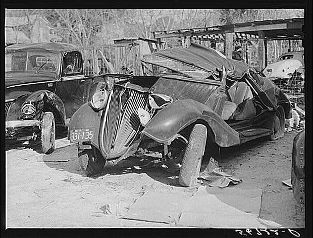 A wrecked car and truck