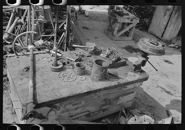 Junkyard workbench