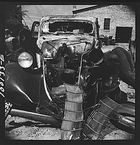 Car at Junkyard