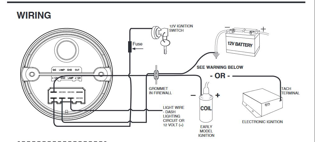 Autometer Tach Wiring Question