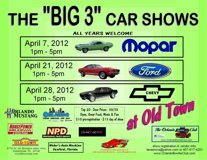Big At Old Town Florida Mopar Ford Chevy Car Shows The - Old town florida car show