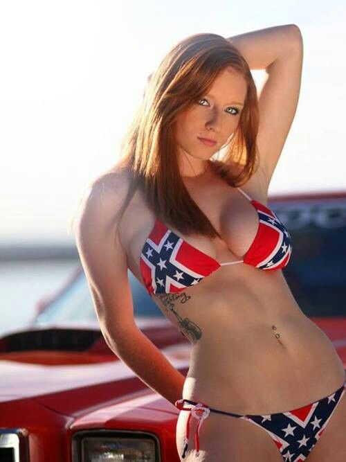 Have naked girl with rebel flag sorry, does