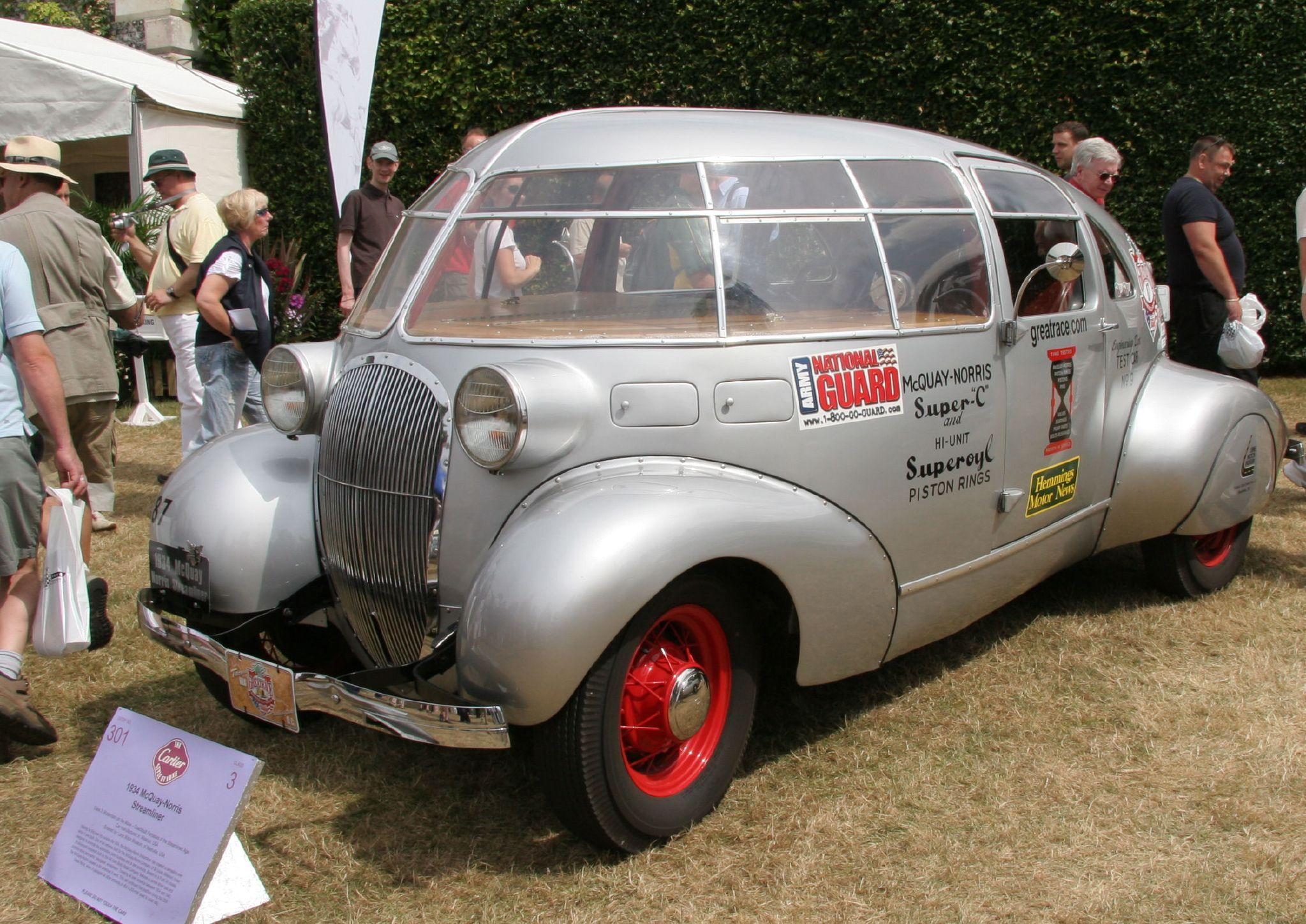 Motorized Freak of the Week: The 1934 McQuay Norris Streamliner