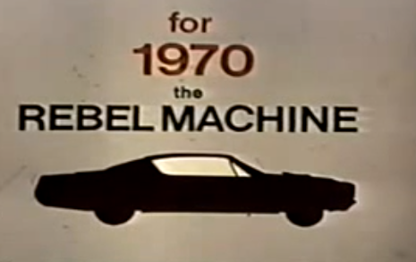 Awesome Muscle Car Video: Factory Promotional Video for the 1970 AMC Rebel Machine