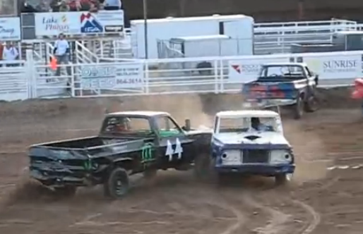 Truck Smash Video: A Crazed, Violent, Truck Demo Derby From Utah