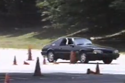 A Fox Mustang Smashes Into A Tree During an Autocross Event – Major Wreckage!