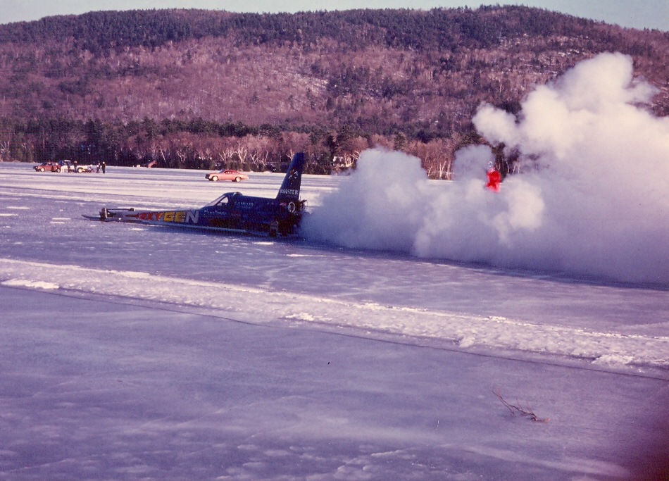 True Story: The Weekend Slammin' Sammy Miller Went 250 mph on Ice in a Rocket Dragster (With Video)