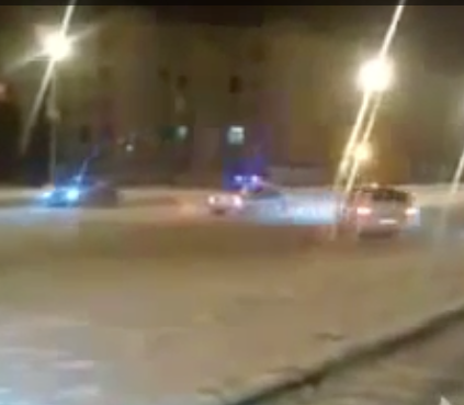 HILARIOUS VIDEO: GUYS MOCK MALL COP WITH EVOS IN SNOW COVERED LOT