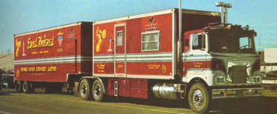 Evel Knievel's rig in all of its glory