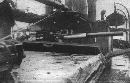 hidden deck gun on a q-ship
