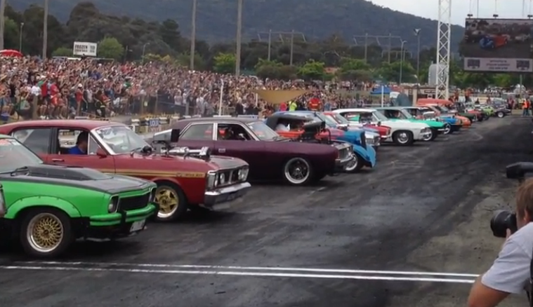 Video: Is This the Largest Group Burnout of All Time?