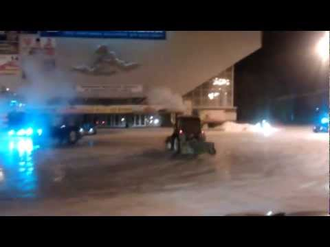 BangShift PSA: Drifting A Front End Loader on Ice in Siberia Will Get Your Boss Fired [w/video]
