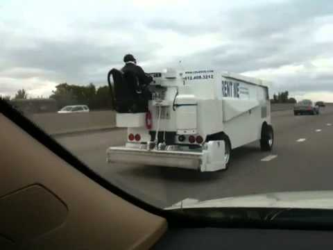 Watch a Street Legal Zamboni Drive Down the Highway – This is Insane!